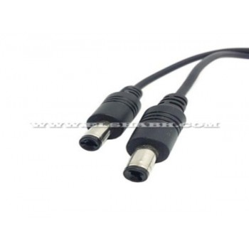 0.35m DC 5.5mm Jack Power Female Barrel to 2 Male Plug Barrel Connector Splitter Cable